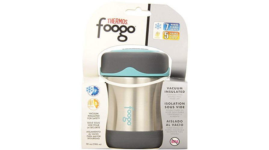 5530f1a60897 THERMOS FOOGO Vacuum Insulated Stainless Steel 10-Ounce Food Jar ...
