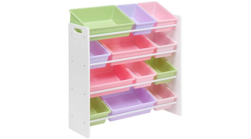 Honey Can Do Srt  Kids Toy Storage Bins White Pastel
