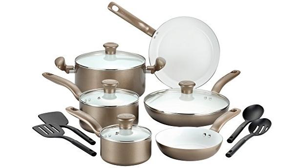 T Fal C728se Initiatives Nonstick Ceramic Cookware Set 14