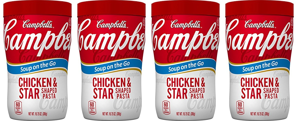HOT Campbells Soup on the Go Chicken Star Shaped Pasta Pack of