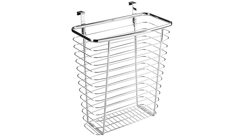 Kitchen Waste Basket Holder: InterDesign Axis Over The Cabinet Wastebasket Trash Can Or