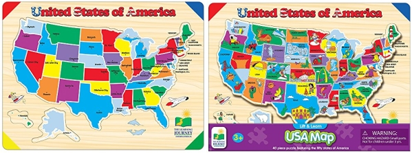 Nice Deal on The Learning Journey Lift & Learn USA Map Puzzle ...