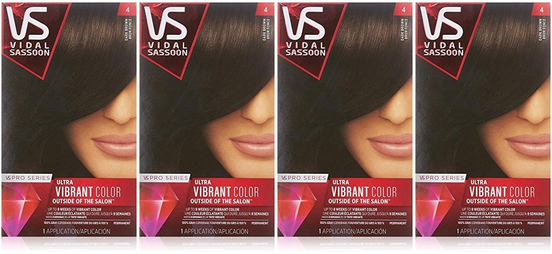 Expired Vidal Sassoon Pro Series Hair Color 4 Dark Brown Jungle