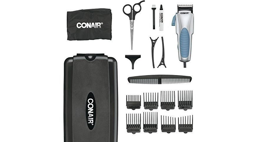 Conair Custom Cut 18 Piece Haircut Kit Home Hair Cutting Kit With