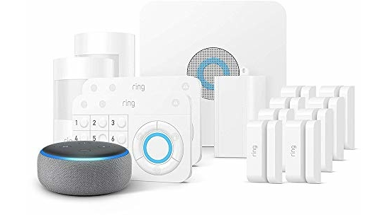 Ring Alarm 14 Piece Kit + Echo Dot (3rd Gen), Works with