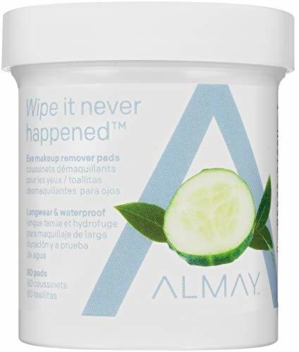 Almay Longwear & Waterproof Eye Makeup Remover Pads, Hypoallergenic, Free from Fragrance, 80 Pads