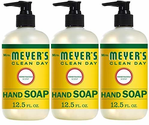 Mrs. Meyer's Clean Day Hand Soap, Honeysuckle, 12.5 fl oz, 3 ct