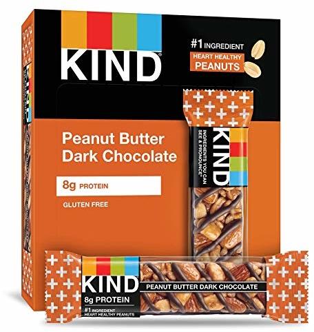 KIND Bars, Peanut Butter Dark Chocolate, Gluten Free, 1.4oz, 12 Count