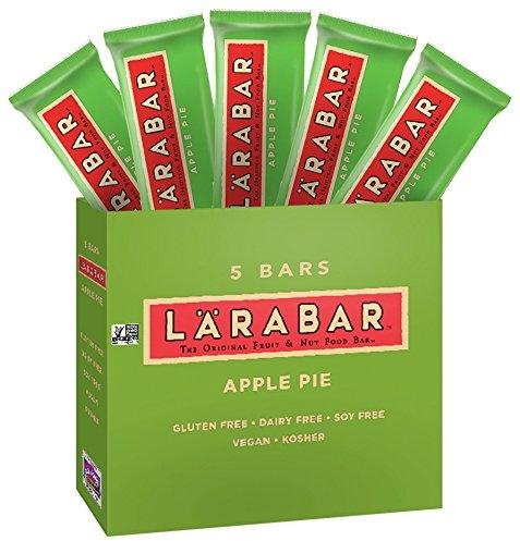 LARABAR, Fruit & Nut Bar, Apple Pie, Gluten Free, Vegan, Whole 30 Compliant, 1.6 oz Bars (5 Count)