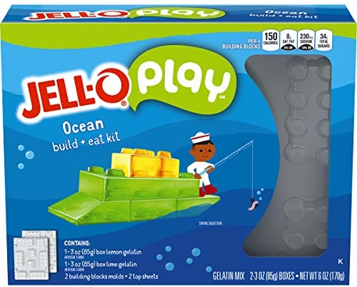 JELL-O Play Ocean Cutters Gelatin Dessert Kit (6 oz Box)