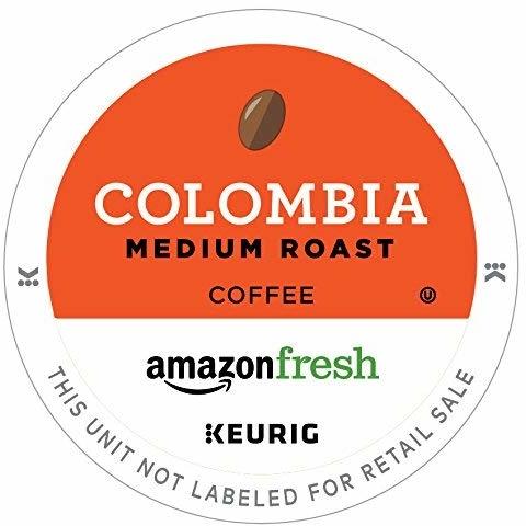 AmazonFresh 12 Ct. K-Cups, Colombia Medium Roast, Keurig K-Cup Brewer Compatible