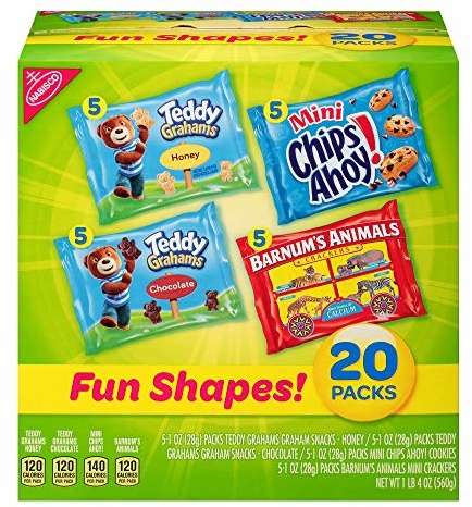 Nabisco Fun Shapes Cookie & Cracker Mix, Variety Pack