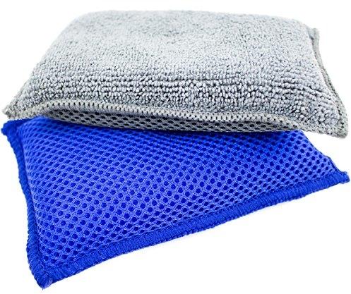 Zwipes Microfiber Dish & Kitchen Sponges | Super Scrub |Multipurpose | 2 Count