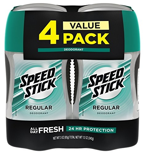 Speed Stick Deodorant for Men, Regular - 3 Ounce (4 Pack)