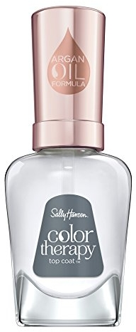 Sally Hansen Color Therapy Nail Polish, Top Coat, Long-Lasting Nail Polish with Gel Shine and Nourishing Care, Pack of 1
