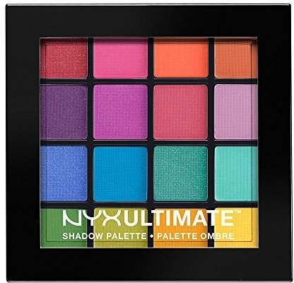 NYX Nyx professional makeup ultimate shadow palette, eyeshadow palette, brights (1 count)