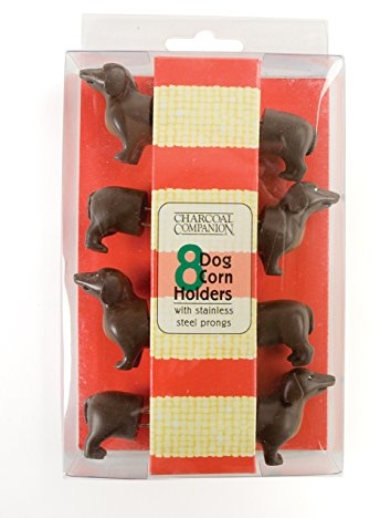Charcoal Companion Dog Corn Holders (8 Pieces) - Perfect Gift For Dachshund Lovers