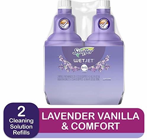 Swiffer WetJet MultiPurpose Floor Cleaner Solution with Febreze Refill, Lavendar Vanilla and