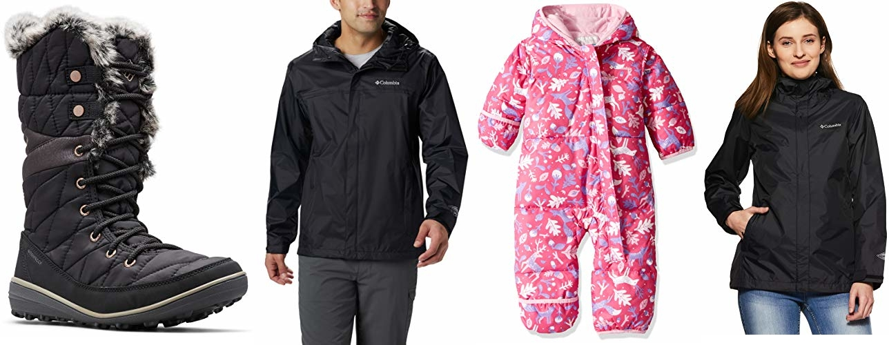 Save up to 35% on Columbia outerwear, clothing, and shoes