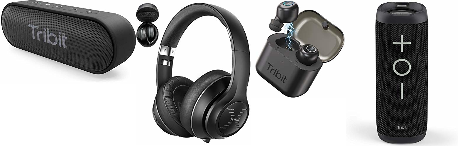 Save up to 45% on Tribit Speakers and Headphones