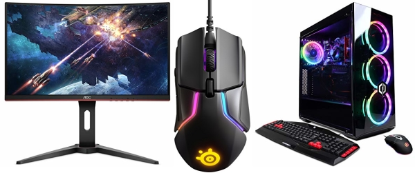 Save on PC Gaming laptops, desktops, monitors, and accessories