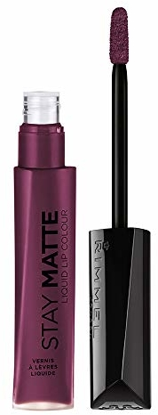 Rimmel Stay Matte Lip Liquid, Plum This Show, 0.21 Fl Oz (Pack of 1)