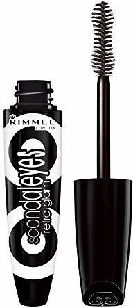 Rimmel Scandaleyes Retroglam Mascara, Extreme Black Longwear Mascara for a False Eyelash Look, 0.41 Fl Oz (Pack of 1)