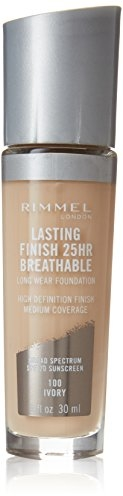 Rimmel Lasting Finish Breathable Foundation, Ivory, 1 Fluid Ounce