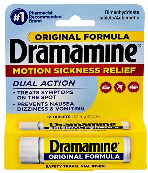 Dramamine Original Formula Motion Sickness Relief | 12 Count