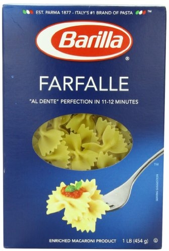Barilla Pasta, Farfalle, 16 Ounce (Pack of 12)