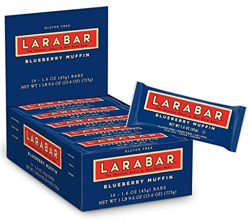 Larabar Gluten Free bar, Blueberry Muffin, 1.6 oz Bars (16Count)