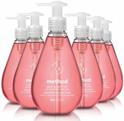 Method Gel Hand Soap, Pink Grapefruit, 12 Fl. Oz (Pack of 6)