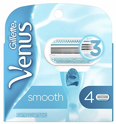 Gillette Venus Smooth Women's Razor Blades, 4 Refills (Packaging May Vary)