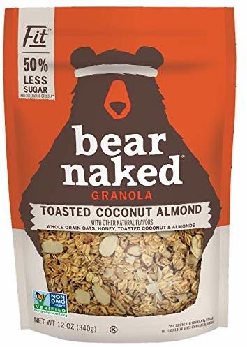 Bear Naked Toasted Coconut Almond Fit Granola - Gluten Free, Non-GMO, Kosher, Vegetarian Friendly - 12 Oz