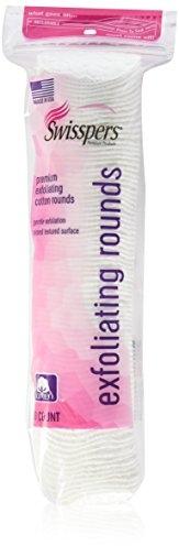 Swisspers Premium Exfoliating Rounds, 2 Distinct Raised Textured Surface, Cotton Facial Pads, 80 Count Re-closable Bag