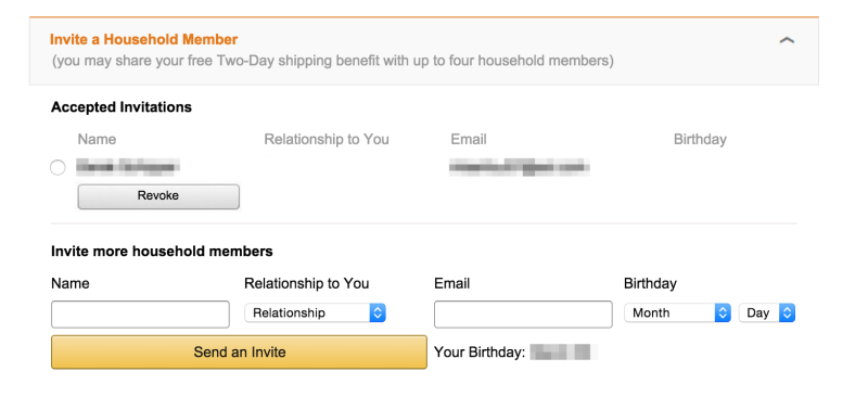 Share Amazon Prime