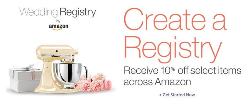 Amazon Wedding Registry: Amazon Wedding Registry: 10% Completion Gift