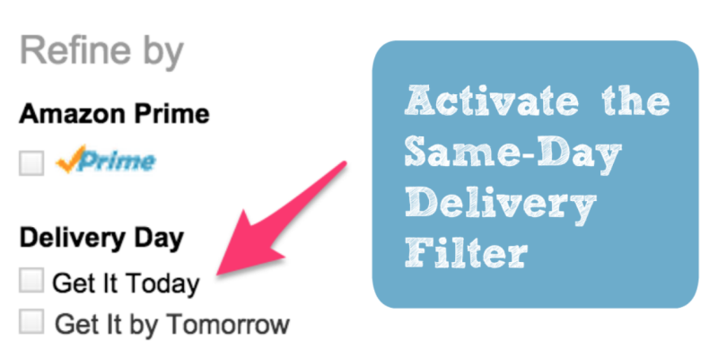 "How To Enable the ""Same Day Delivery"" Search Filter"