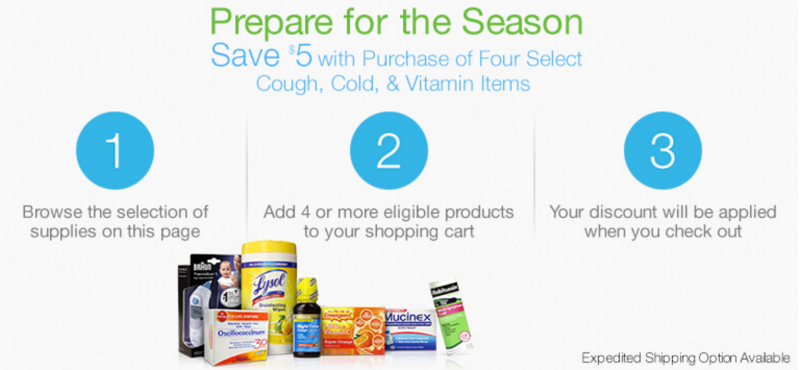 Buy Four Cough, Cold, and Vitamin Essentials and Save $5
