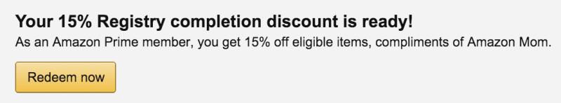 Amazon Registry Discount