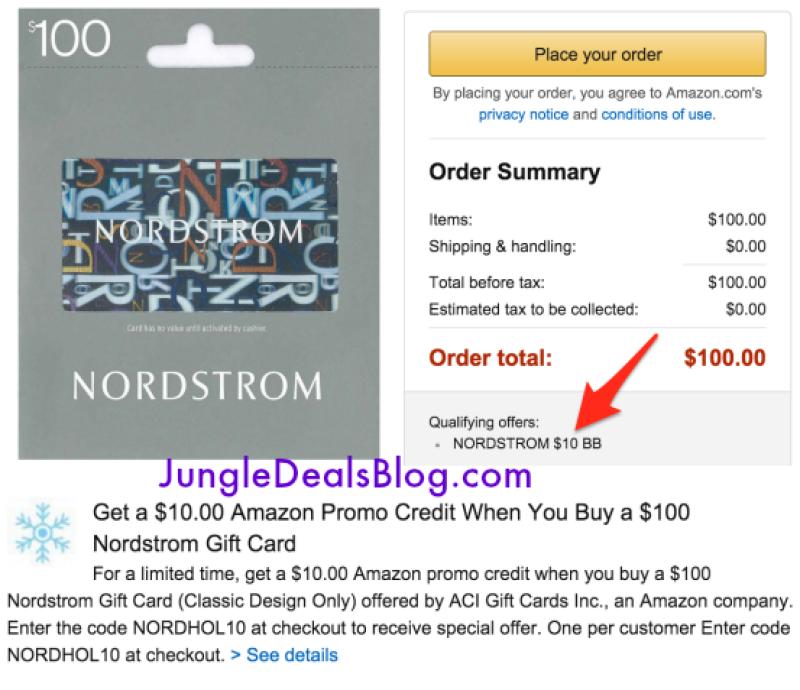 *HOT* Buy $100 Nordstrom Gift Card, Get $10 Amazon Credit