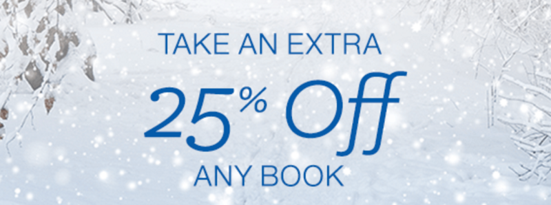 *HOT* Extra 25% Off One Book -- Up to $10 Off!