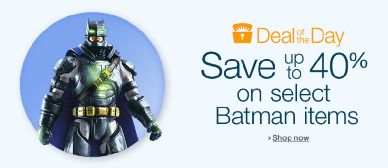 Deal of the Day: HUGE Batman Vs Superman Sale -- 40% off Toys, Up to 80% Off DVDs!