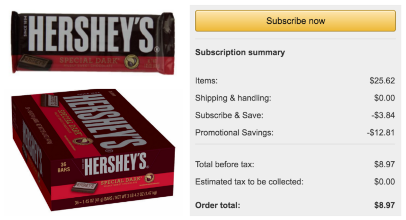 Hot Hershey S Special Dark Chocolate Bar 1 45 Ounce Bars