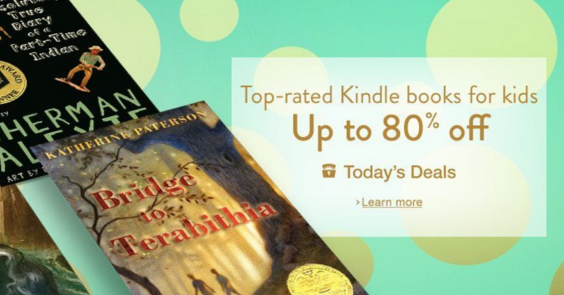 Deal of the Day: Top-rated Kindle books for kids, up to 80% off!