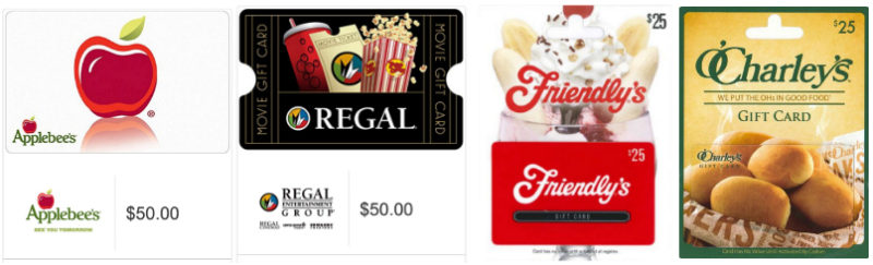 · Bob Evans: Through May 15, buy a $20 gift card at participating restaurants and get a $5 bonus card. Or spend $35 on gift cards and get a $10 bonus card.