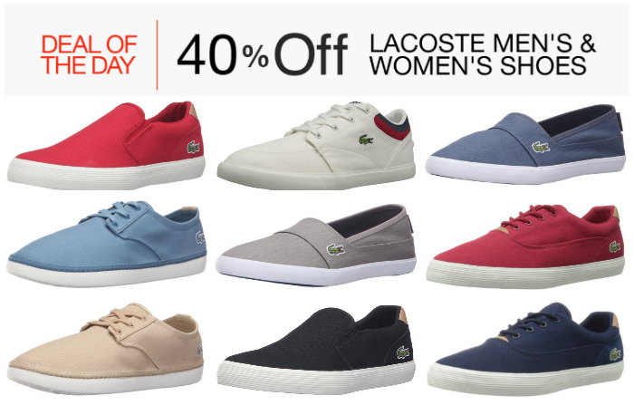 7384c1a8ef04bb Deal of the Day  40% Off Lacoste Men s   Women s Shoes — From  38 ...