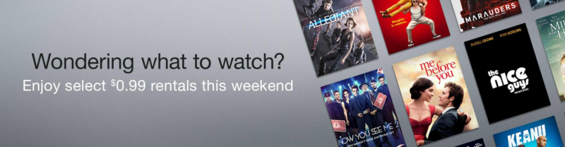 *HOT* Enjoy 99¢ Movie Rentals this Weekend!