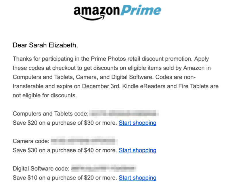 Did You Use Amazon Prime Photos? Check Your Account for Up to 75% Off Discount Codes!
