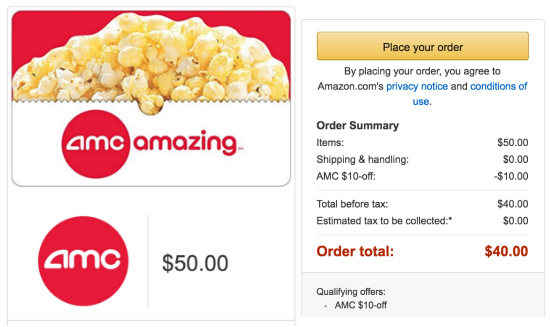 Expired: $50 AMC Gift Card ONLY $40! | Jungle Deals Blog